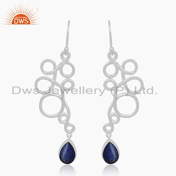 Lapis Lazuli Gemstone 925 Silver Handmade Earring Jewelry Wholesale Suppliers