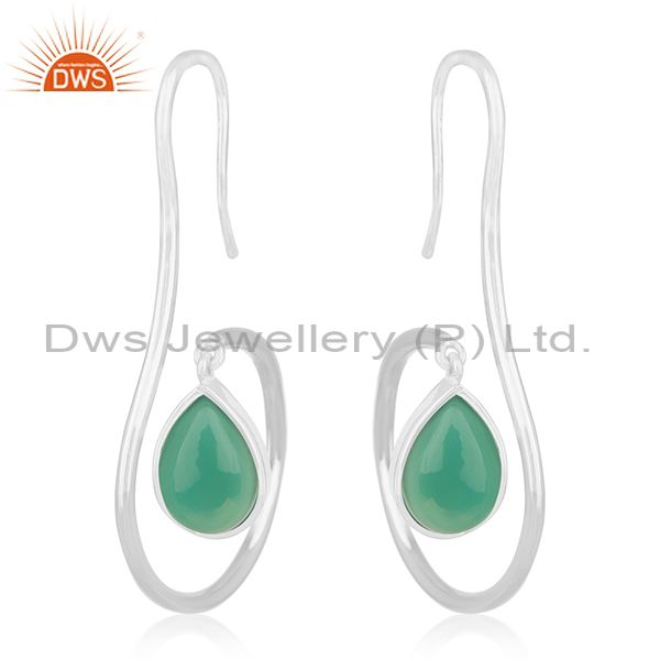 Handmade Designer 925 Silver Green Onyx Private Label Earring Manufacturers