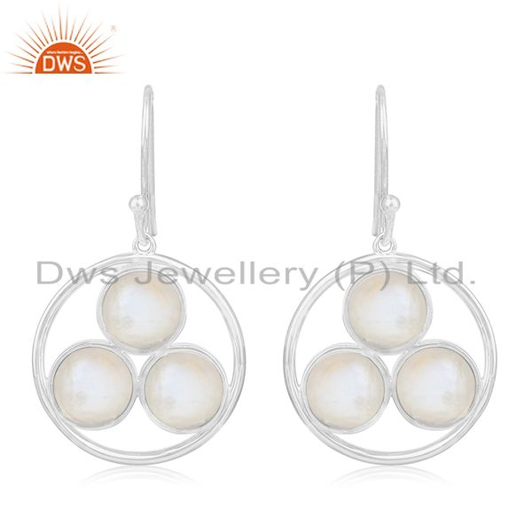 Crystal Quartz Handmade 925 Sterling Silver Custom Earring Jewelry Manufacturer