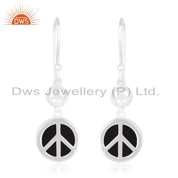 Fine Sterling 92.5 Silver Private Label Peace Design Earring Manufacturer India