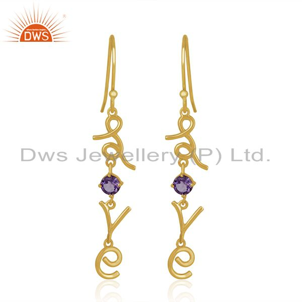Custom Love Intial Silver Earring Jewelry Manufacturer for Designers From India