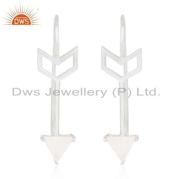 Fine Sterling Silver Arrow Design Natural Gemstone Custom Earring Manufacturer