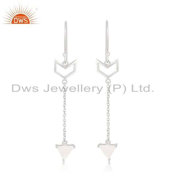 Arrow Shape 92.5 Sterling Silver Customized Earring Jewelry Manufacturers