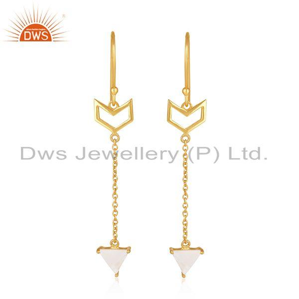 Gold Plated Sterling Silver Arrow Design Custom Earring Manufacturer India