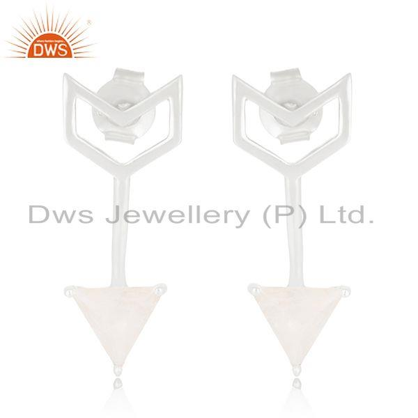 New Arrival Arrow Design 925 Silver Moonstone Rainbow Earring Jewelry Suppliers