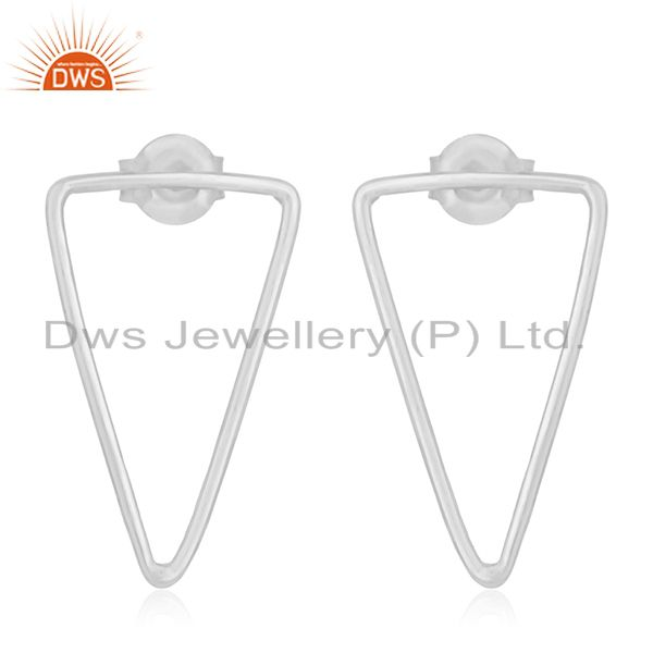 Fine Sterling 92.5 Silver Designer Triangle Earrings Jewelry for Retailers