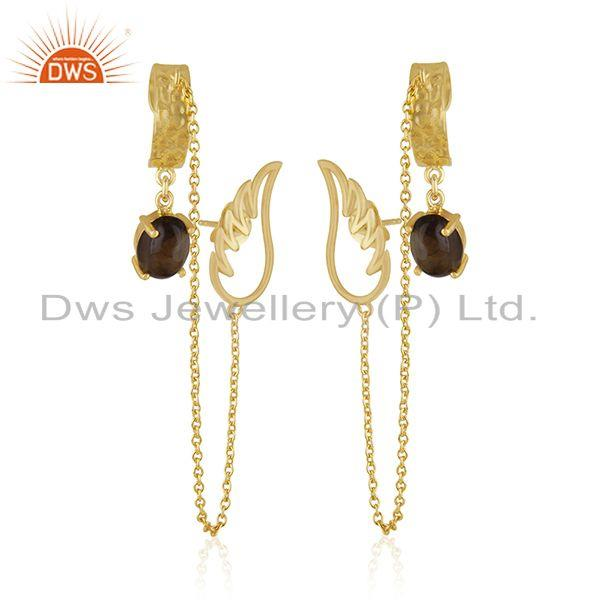 Angel Wing 925 Sterling Silver Gold Plated Ear Cuff Earring Manufacturers