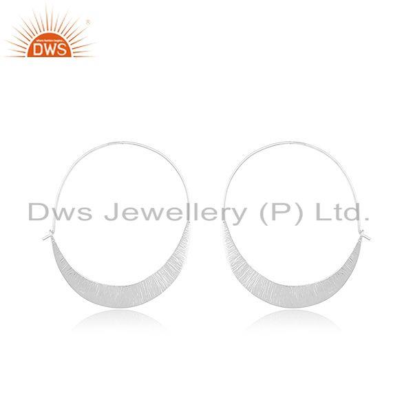 Handmade 925 Sterling Silver Hoop Earrings Jewelry Manufacturer of Custom Design