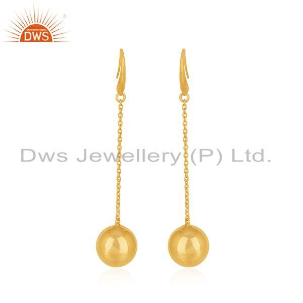 Handmade Gold Plated Silver Chain Earrings Jewelry Manufacturer