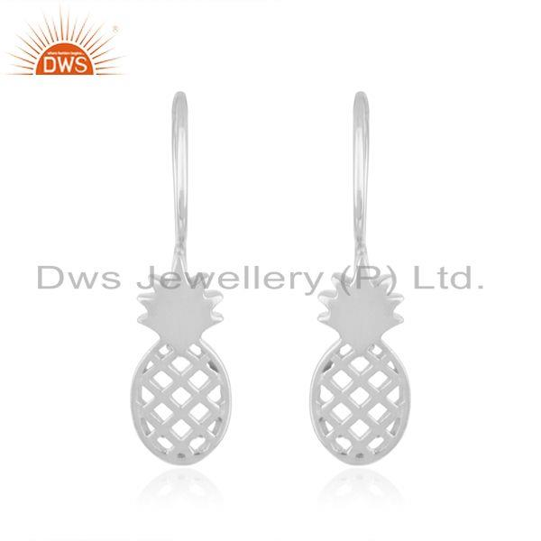 Pineapple Design Fine Sterling Silver Earring for Girls Jewelry Wholesal