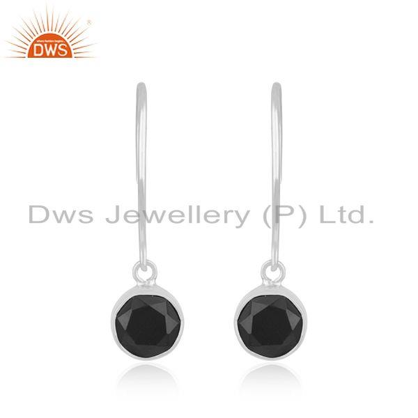 Black Onyx Gemstone 925 Sterling Silver Earring Jewelry Manufacturer in Jaipur