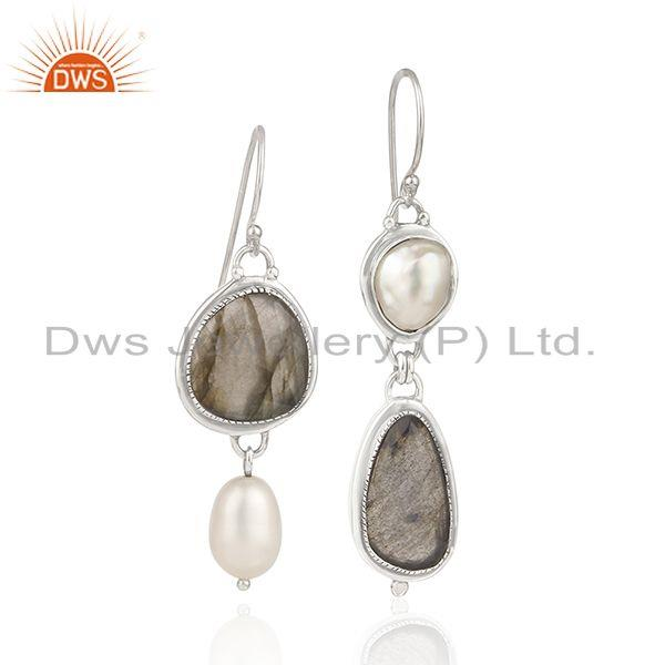Natural Multi Gemstone New Arrival Sterling Fine Silver Earrings