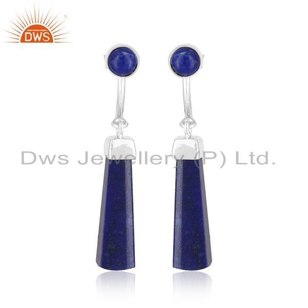Handmade Fine 925 Silver Lapis Lazuli Gemstone Earrings Suppliers