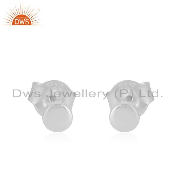 Handmade Plain 925 Fine Sterling Silver Stud Earrings Manufacturer