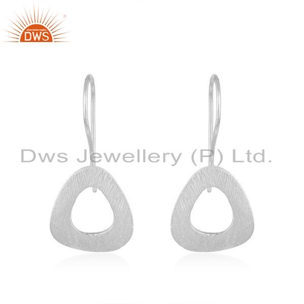 New Look Sterling Fine Silver Texture Earrings Jewelry
