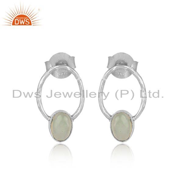 Dangle Design Sterling Silver 925 Ethiopian Opal Earrings