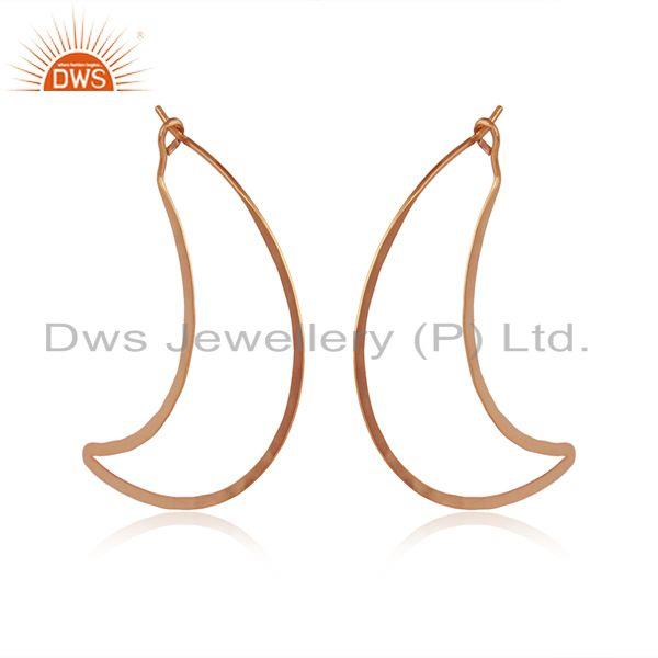 Rose gold plated 925 silver banana designer earrings jewelry