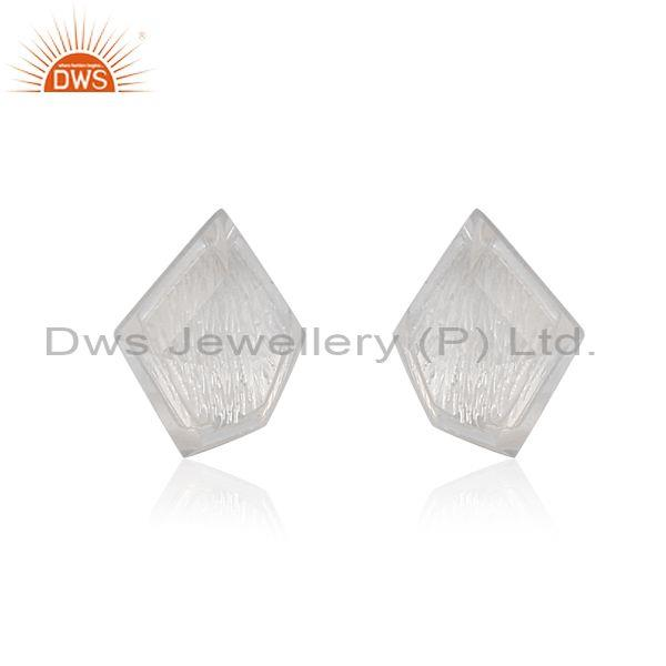 Crystal set fine sterling silver classic statement earrings