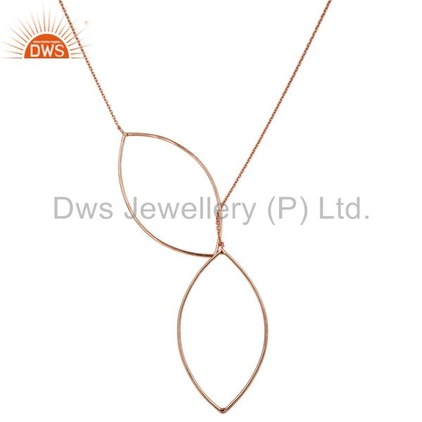 Rose Gold Plated Solid Sterling Silver Wire Chain Necklace