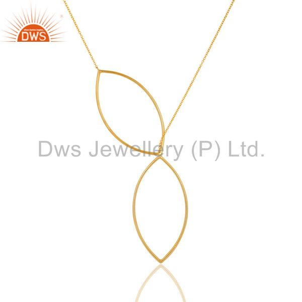 14 Carat Yellow Gold Plated Solid Sterling Silver Wire Chain Necklace