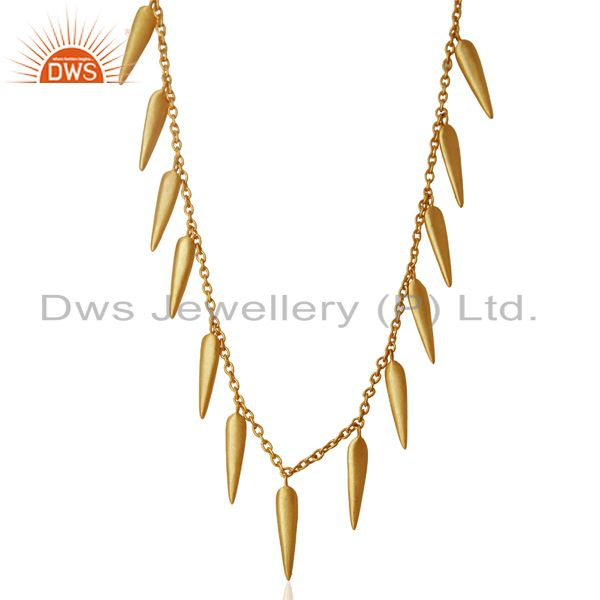 Handmade gold plated 925 silver designer necklace manufacturer