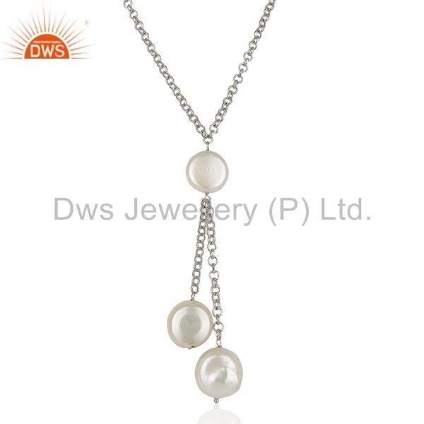 Natural White Pearl 925 Sterling Silver Chain Pendant Manufacturers