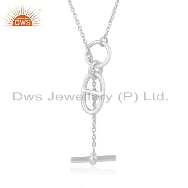 Fine Sterling Silver Chain and Link Necklace Pendant Manufacturer of Jewelry