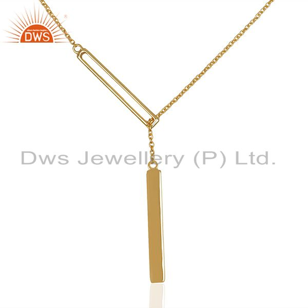 Genuine 92.5 Sterling Silver Gold Plated Chain Pendant Manufacturers