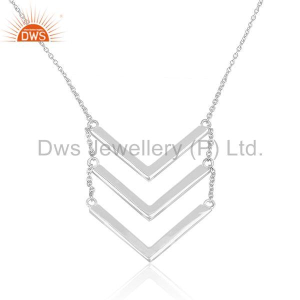 Handmade 925 Sterling Plain Fine Silver Chain Necklace Manufacturer