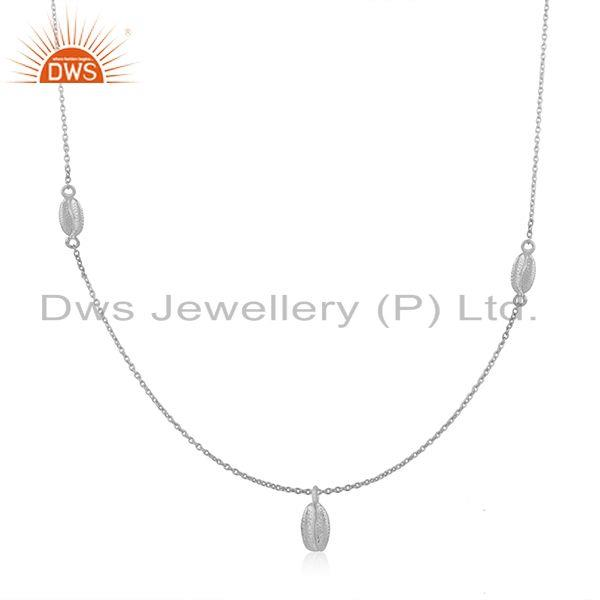 Designer 92.5 sterling fine silver chain pendant manufacturer customized jewelry