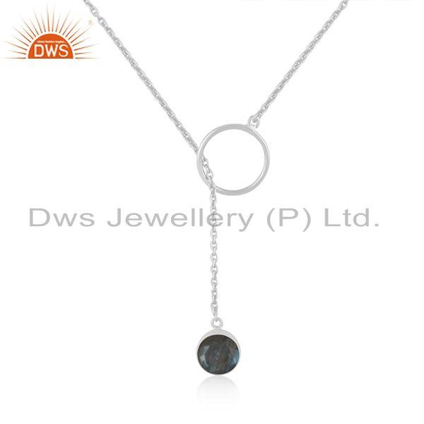 Labradorite gemstone 925 sterling silver chain necklace pendant manufacturer