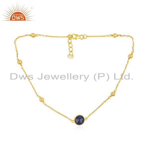 Lapis LAzuli Gemstone 925 Silver Lapis Gemstone Necklace Wholesale Suppliers