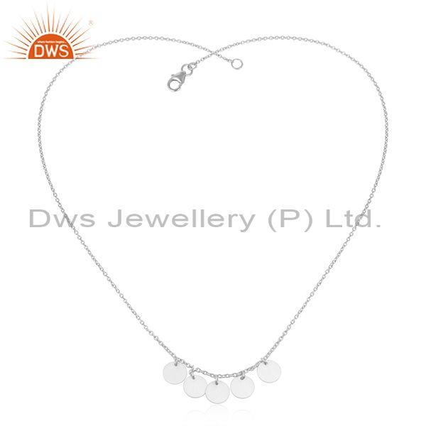 Coin designer 925 sterling fine silver handmade chain necklace jewelry