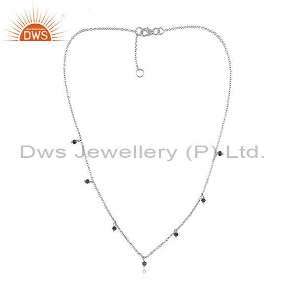 Iolite set fine sterling silver classy pendant and necklace