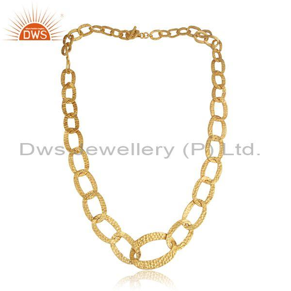 Handmade Gold Plated 925 Silver Entwined Opera Necklace
