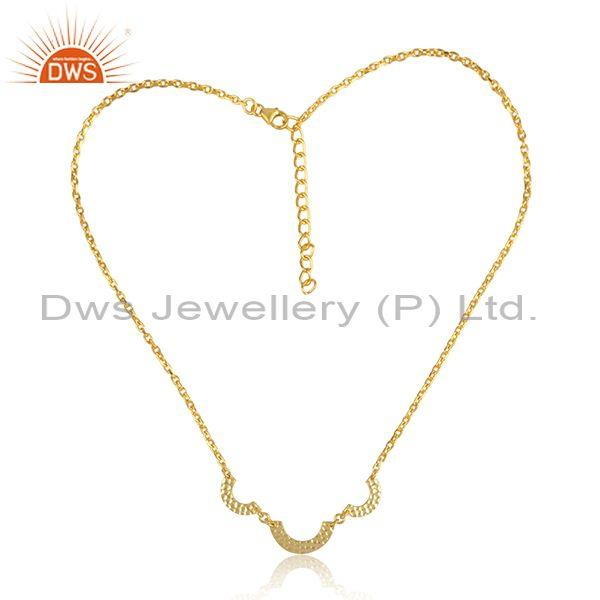 Handmade gold on 925 silver designer pendant and necklace