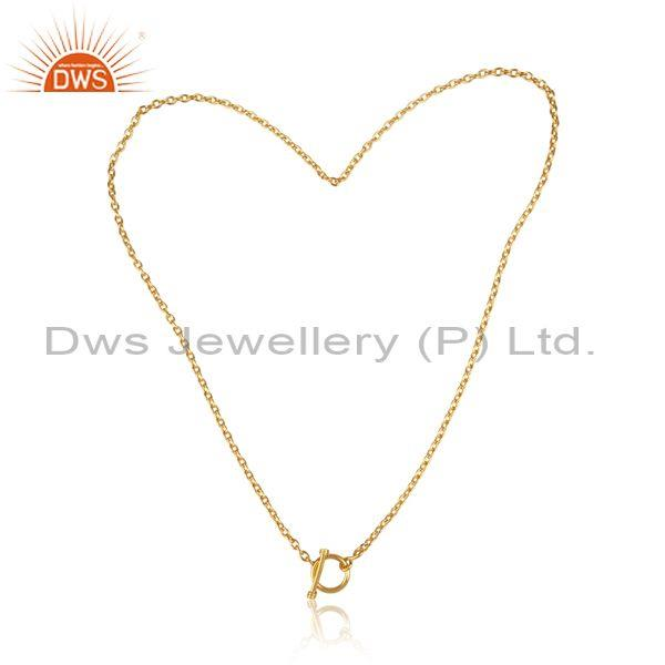 Gold on sterling silver handmade designer pendant and chain