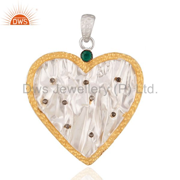 Beautiful Crafted 925 Sterling Silver Hand Hammered Heart Pendant Gifted Jewelry