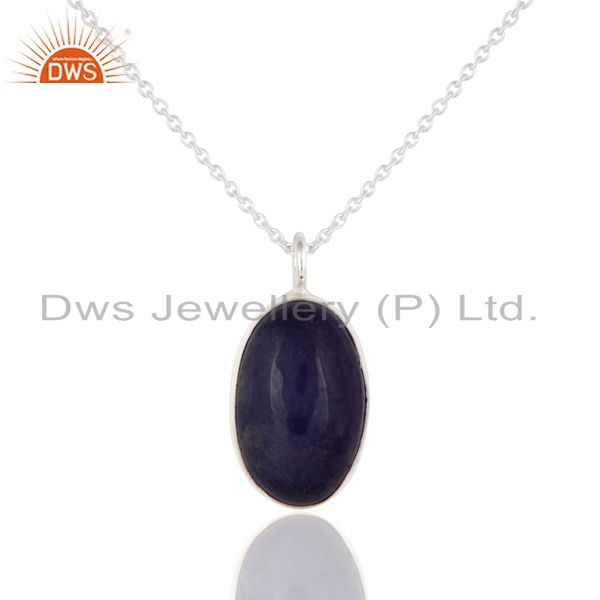 Artisan Made Solid Sterling Silver Natural Tanzanite Gemstone Pendant With Chain