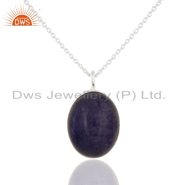 Handcrafted 925 Sterling Silver Natural Tanzanite Gemstone Pendant