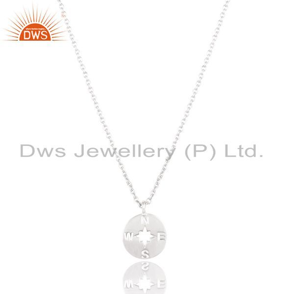 Solid 925 sterling silver handmade astrology style chain pendant necklace