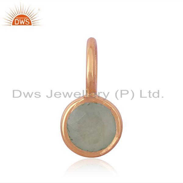 Rose gold plated 925 sterling silver handmade gemstone pendant