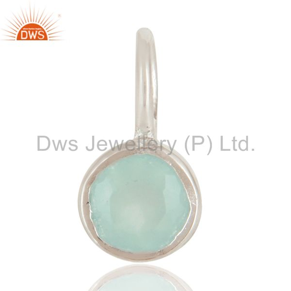 Beautiful handmade solid 925 sterling silver dyed chalcedony connector pendant
