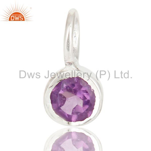 Beautiful Handmade Solid 925 Sterling Silver Amethyst Connector Pendant Jewelry