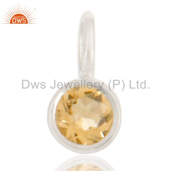Beautiful Handmade Solid 925 Sterling Silver Citrine Connector Pendant Jewelry