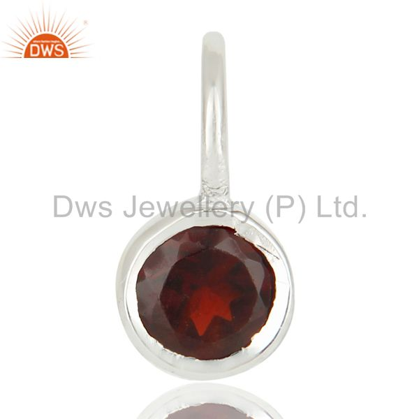 Beautiful Handmade Solid 925 Sterling Silver Garnet Connector Pendant Jewelry
