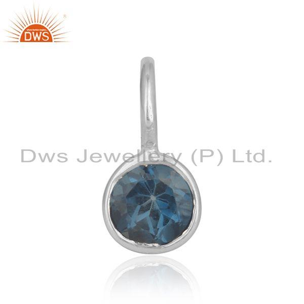 London blue topaz gemstone handmade 925 fine silver pendant wholesale