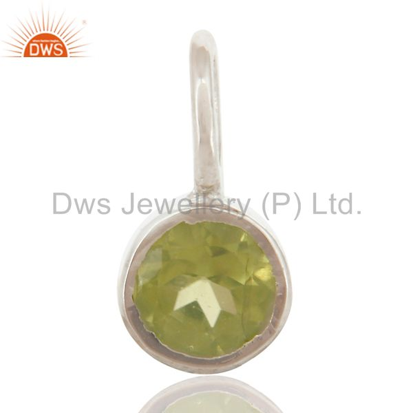Beautiful Handmade Solid 925 Sterling Silver Peridot Connector Pendant Jewelry