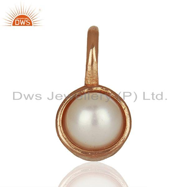 Natural Pearl Rose Gold Plated 925 Sterling Silver Pendant Supplier