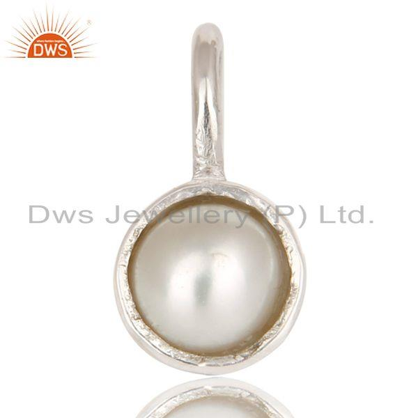 Beautiful handmade solid 925 sterling silver pearl connector pendant jewelry